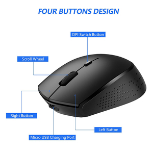 Image 5 - ג לי מסרק 2.4G USB סוג C אלחוטי עכבר נטענת ארגונומי עכבר 800/1200/1600 DPI עכברים עבור Macbook Pro מחשב נייד נייד