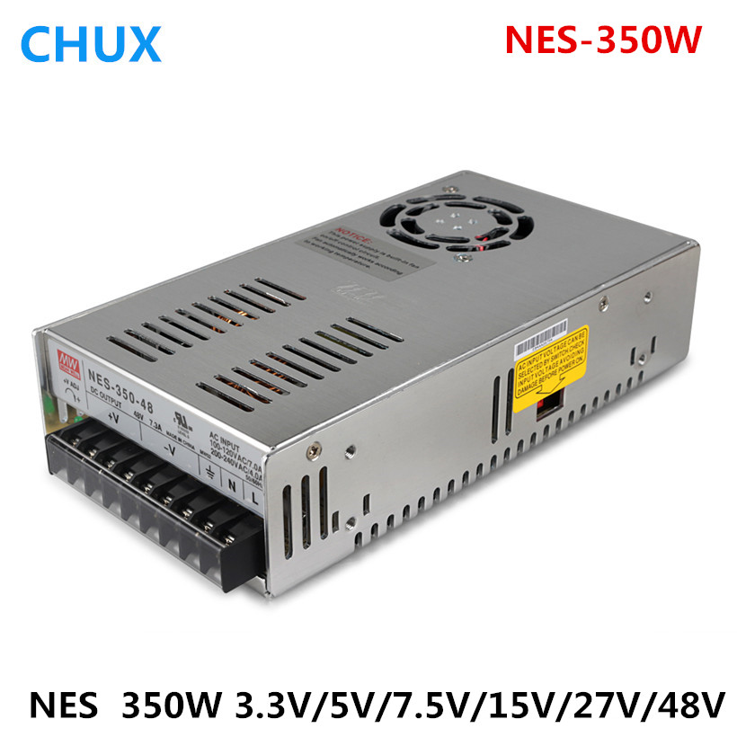 350W NES series Original MEAN WELL AC to DC single output 3.3VDC 5VDC 7.5VDC 15VDC 27VDC 48VDC Switching Power Supply NES-350W
