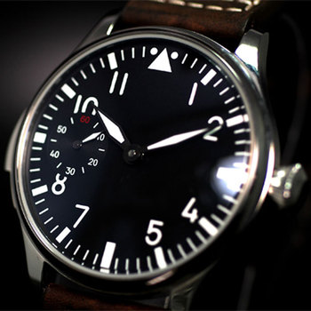 Free Shipping 44mm classic black dial PARNIS luminous makrs asia 6497 movement Mechanical Watches hand winding men's watch