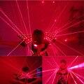 Colorido LED Láser Chaleco, Chaleco Rojo Láser Ropa Chaqueta trajes Luminosos LED Para la fiesta de espectáculo