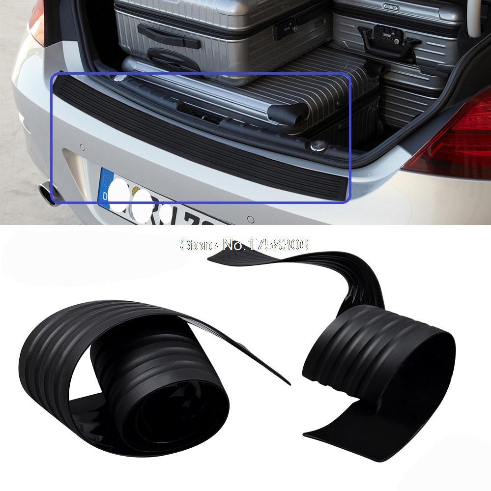 Car trunk guard plate rear bumper rubber cover sticker for toyota camry corolla rav4 highlander land cruiser prado prius avensis