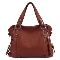 2017 new women handbags high quality pu medium women hand bag large capacity brown artificial leather messenger bags for ladies