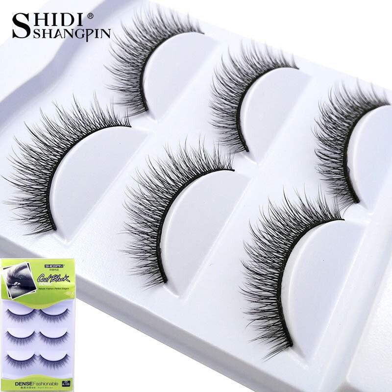 New 3 Pairs Fake Lashes Makeup Beauty Eyelash Extension Super Soft Reusable 3D False Eyelashes Lashes Natural Makeup Tools #109
