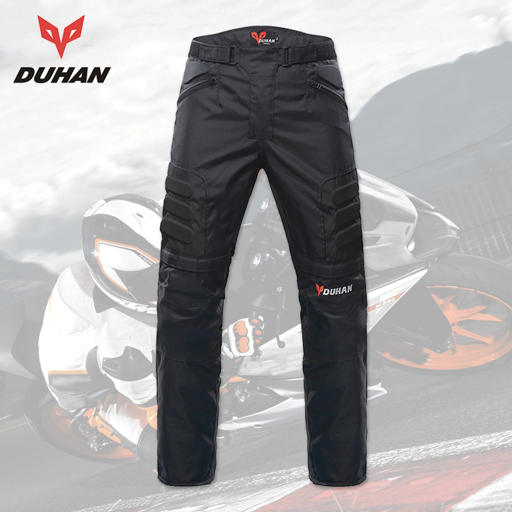 DUHAN Men's Motorcycle Pants Riding Trousers Motocross Off-Road Racing Pants Knee Protective Gear Pants Motocross Pantalon Moto riding tribe summer motorcycle pants jeans racing moto armor motocross mx pants off road knee protector jeans hp 05