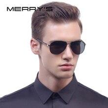 MERRY'S 2017 Classic Brand Sunglasses Men HD Polarized Aluminum Male Driving Pilot Eyewear Luxury Shades UV400 S'8513