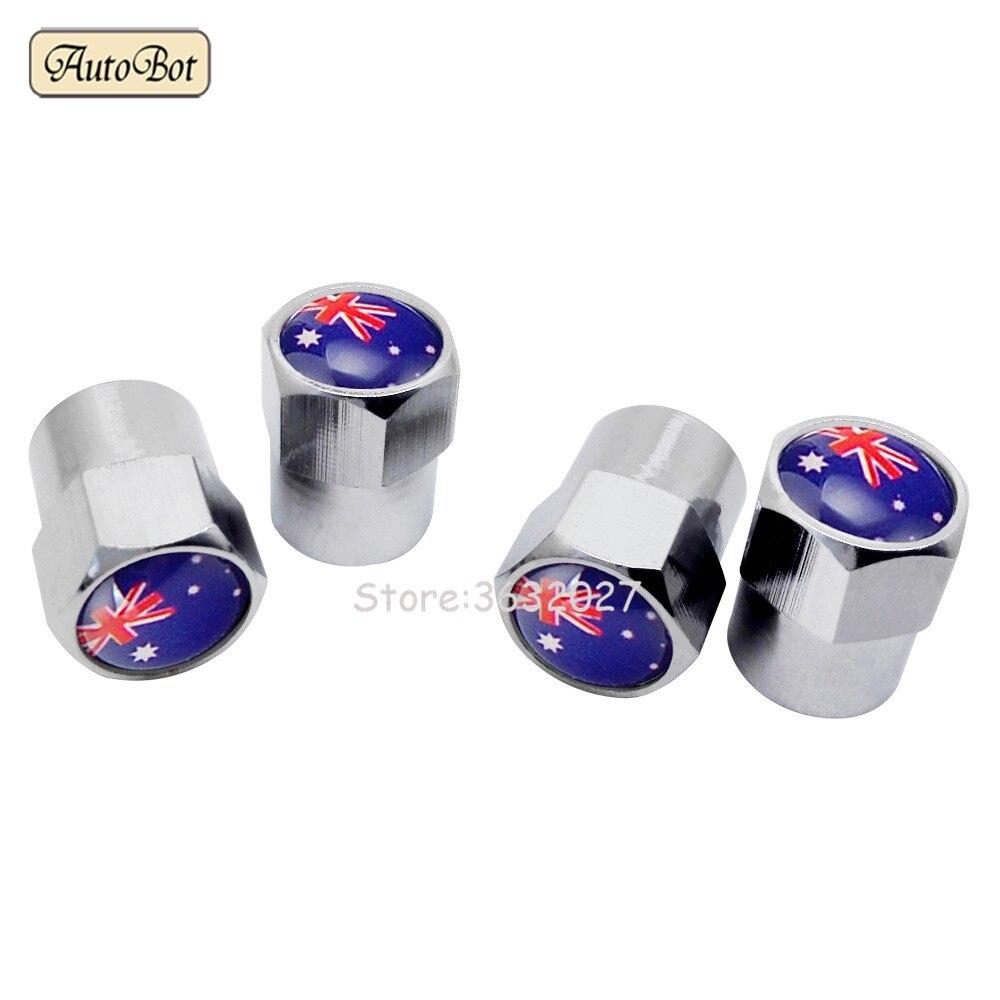 Стайлинга автомобилей колеса шины клапан Стебли Шапки для Австралии Флаг для Toyota Corolla Camry Mazda Axela hyundai I30 Holden Commodore KIA