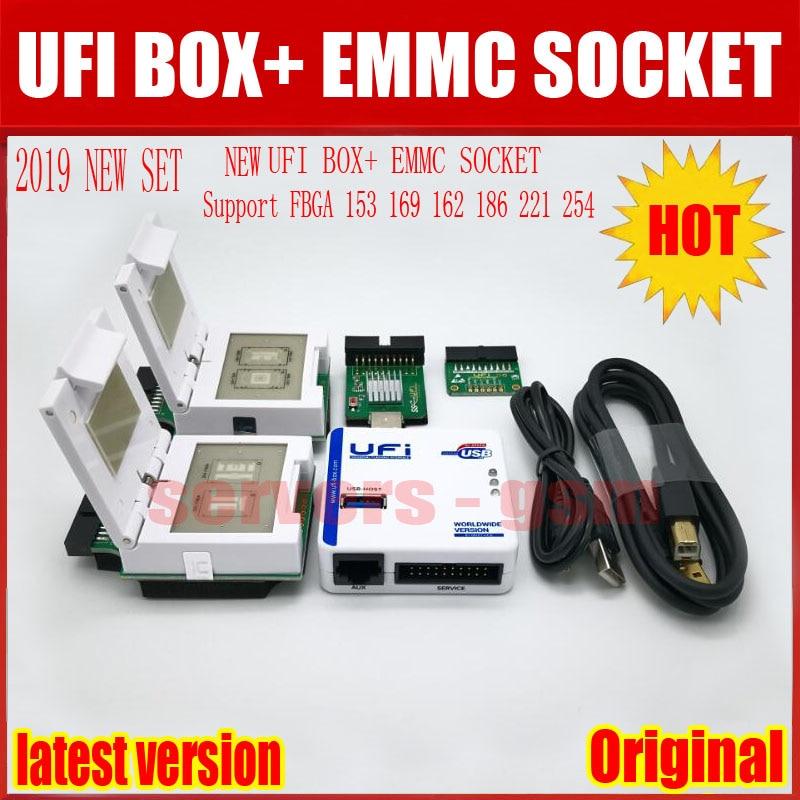 Novo 2019 original UFI Caixa/Suporte Caixa de Ufi FBGA 153/169/162/186/221 254 ful Serviço EMMC EMMC Tool Ler os dados do usuário, bem como re