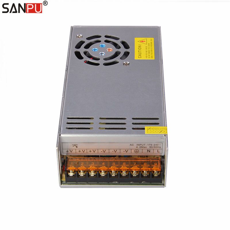 SANPU LED Driver 12V 500W 40A Constant Voltage Switching Power Supply Transformer 220V AC Input Fan for LEDs Light Bars Indoor kvp 24200 td 24v 200w triac dimmable constant voltage led driver ac90 130v ac170 265v input