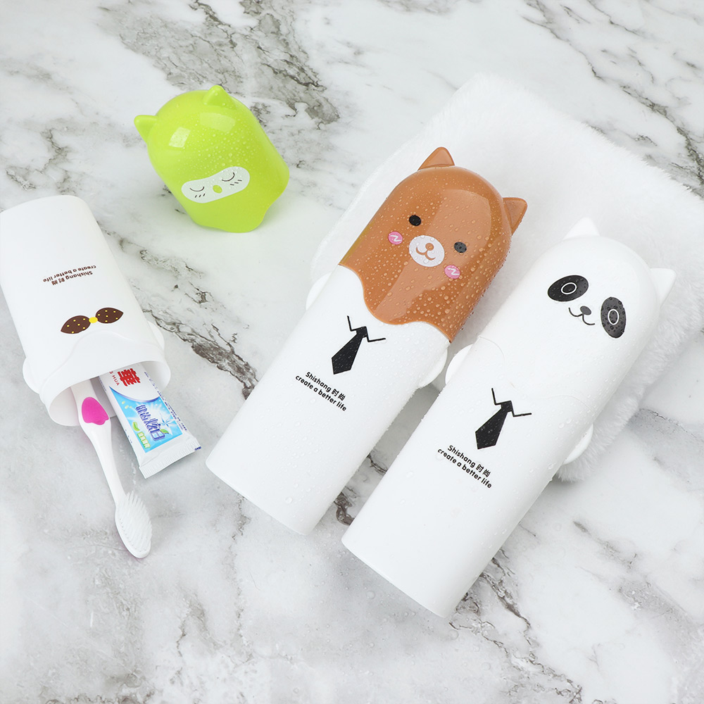 Toothbrush Holder Travel Organizer Toothpaste Storage Cup Water Bottle