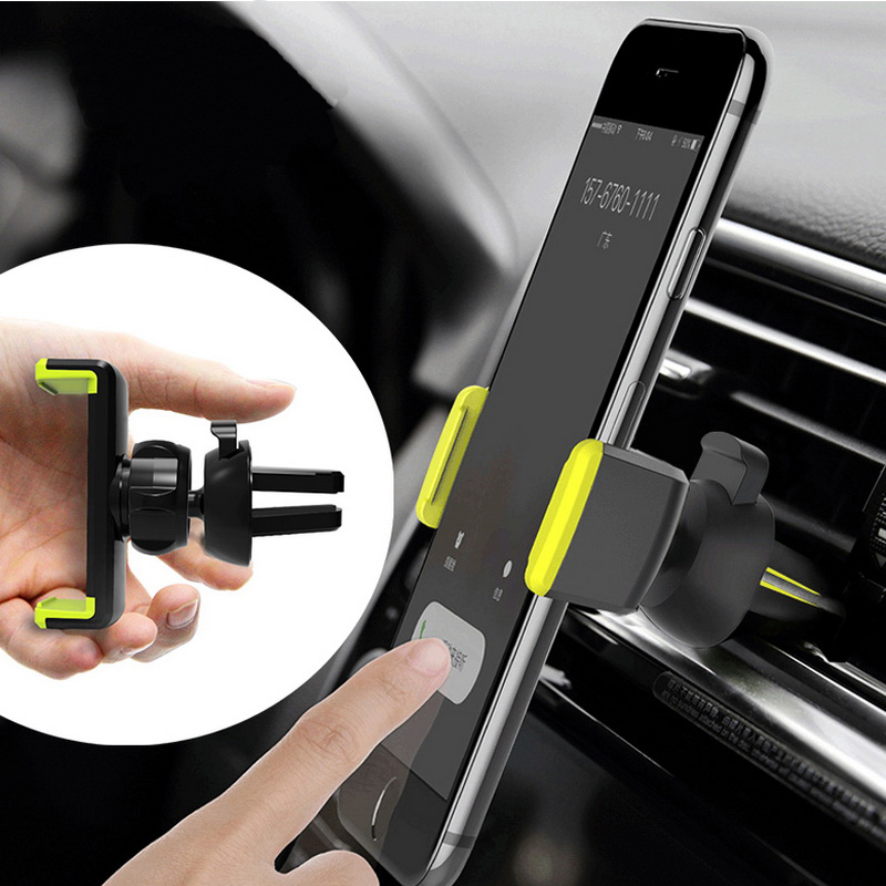 Universal In-Car Phone Holder Bracket Adjustable Car Vent Mount CellPhone Mobile Holder Support 360 Rotate Vehicle Phone Stands