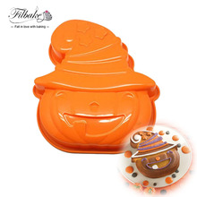 filbake halloween supply diy baking tools pumpkin shape silicone cake mold cake pan for tart bundt cake cheesecake and pudding
