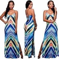 New arrive best quality 2017 bandage dress sexy backless club dress women maxi dresses long S3064