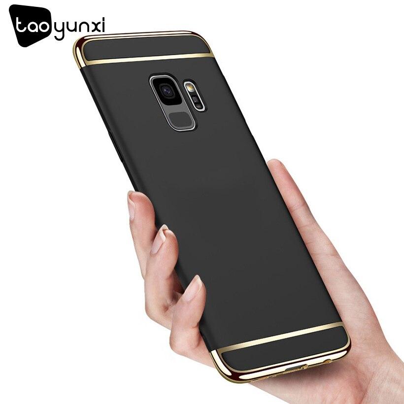 TAOYUNXI Plating Plastic Case For Samsung Galaxy S9 Case Back Cover Coque Funda G9600 G960F 5.8inch Anti-Knock Etui Premium Case