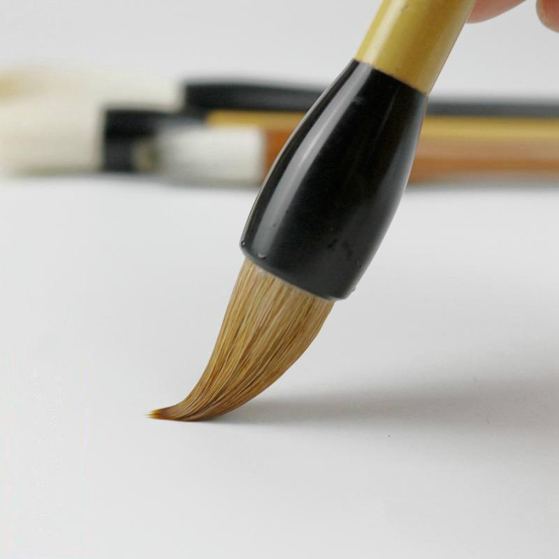 Advanced Soft Woolen Purple Rabbit Hair Chinese Calligraphy Brushes Pen Writing Brush Pen Set Chinese Painting