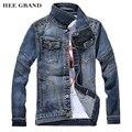 Homens Jaqueta jeans 2017 Novos Chegada da Primavera Outono Casaco Jaqueta Jeans Clássico Denim Fino MWJ1767