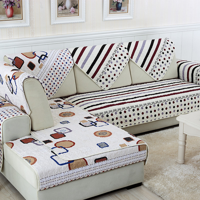 Style Of SunnyRain 1 Piece Double face Reversible Striped Modern Sofa Seat Cover Sectional Sofa Towel New Design - Modern sofa seat covers Ideas