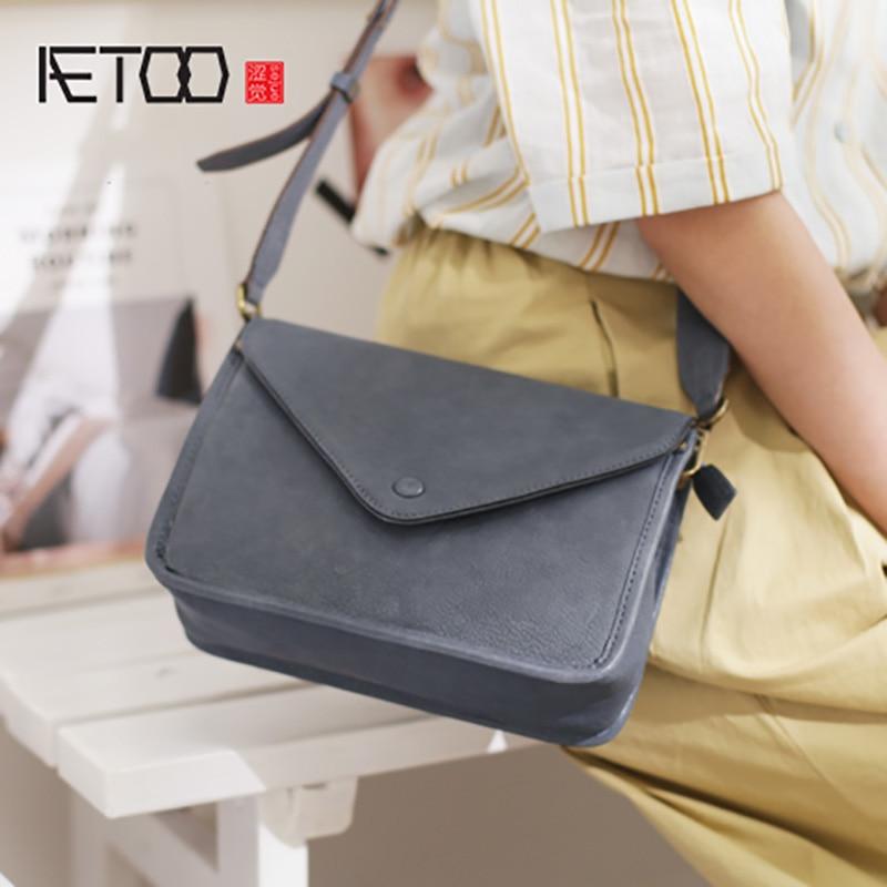 AETOO Inclined strap wide shoulder envelope bag, simple popular female fashion small square bag