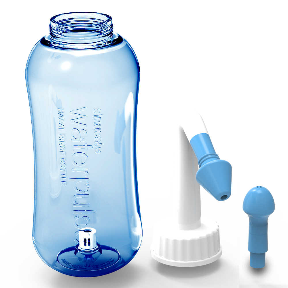 Waterpulse Portátil Lavagem Nasal Lavagem Nasal Cleaner 300 ml Capacidade Garrafa de Irrigação Alergias Alívio Rinse Neti Pot Nenhuma Caixa