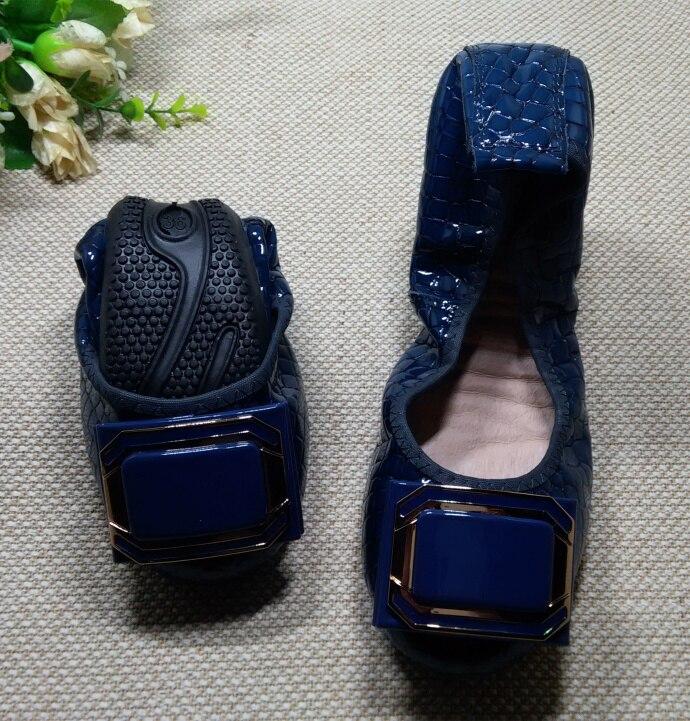 ФОТО Lady Fashion Flat Shoes Girl's Casual Comfortable Foldable Lady Shoes Genuine Leather Flat Shoes Elegant Woman Shoes Flats F009