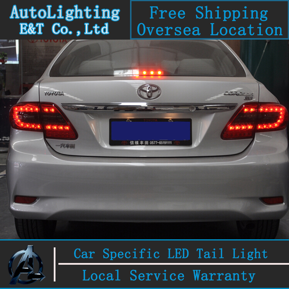Shipping option led tail lamp for toyota corolla tail lights 2011 2013 altis led rear