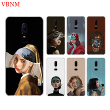 Abstract girl Funny Phone Back Case For OnePlus 7 Pro 6 6T 5 5T 3 3T 7Pro 1+7 Art Gift Patterned Customized Cases Cover Coque