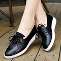 Women's Flats Shoes Brand Leather Oxford Shoes For Women Lace-Up Shoes Woman Moccasins Ballet Flats Zapatos Mujer Shoes 1991