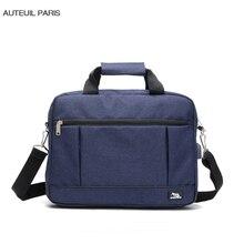 AUTEUIL Париж мужской портфель большой емкости Бизнес Мужская сумка унисекс сумки для ноутбука Maleta зарядка через usb Protfolios