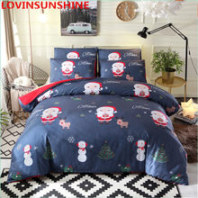 3D Bedding Sets Queen/King Size Duvet Cover Bed Linens Christmas Duvet Cover 3Pcs Bedclothes 3d Printed Bedding Set King Size(China)
