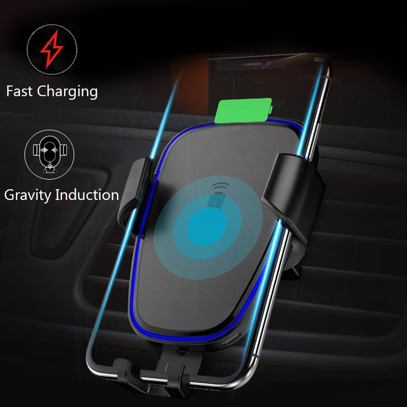 wireless car charger for iphone x 8 plus samsung s8 note 8. Black Bedroom Furniture Sets. Home Design Ideas