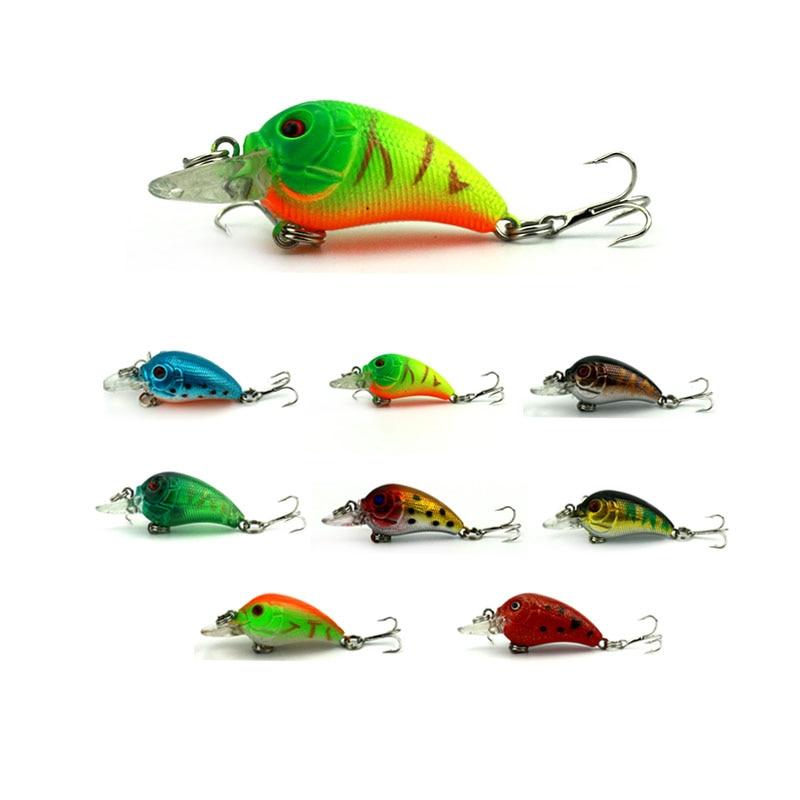 HENGJIA hard plastic diving mini crankbaits artificial wobblers trout catfish pesca swim baits 4.5cm 4.2g 10#hooks dynamite baits swim stim