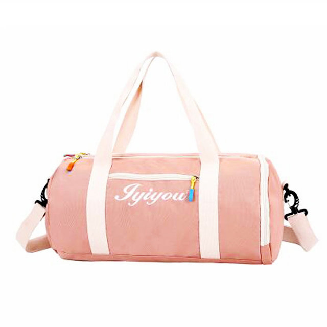 80674c673b89 Girl Lovely Pink Sport Bags For Gym Nylon Waterproof Dry Bag Large Women  Swimming Traning Bag Outdoor Hand Luggage Travel Bags