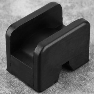 Image 2 - Black Slotted Frame Rail Floor Jack Disk Rubber Pad Fits For Pinch Weld Side HOT