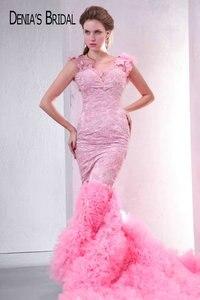 Image 1 - Реальные фотографии, розовое милое вечернее платье с аппликацией из бисера и открытой спиной, длина до пола, длинное платье для выпускного вечера