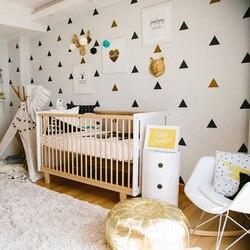 Triangles Baby Room Decor Kids Bedroom Wall Sticker For Kids Room Nursery Decor Girl Childrens Bedroom Home Decor Wallpaper