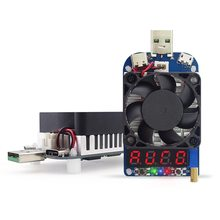 35W Constant Current Double Adjustable Electronic Load QC2.0/3.0 Triggers Quick Voltage USB Tester Voltmeter Aging Discharge numerical control constant current electronic load usb discharge capacity tester