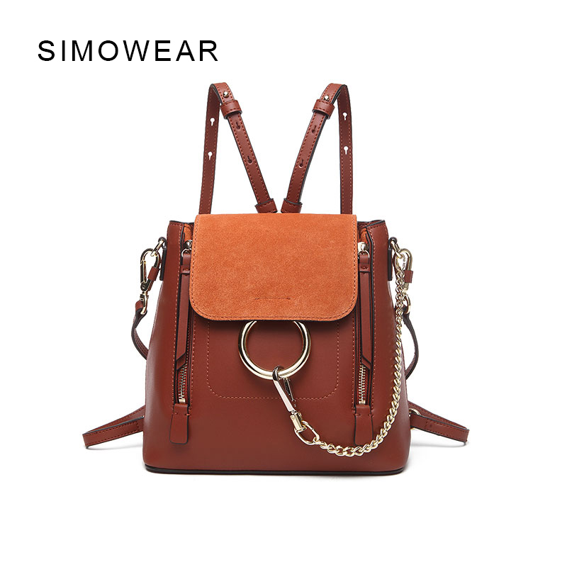 SIMOWEAR  New Arrive Women Luxury Brand Cloe Back pack Mini Bolsa Termica Tassen Shoulder Bags Carteras Mujer mochila Ring Bag qicai yanzi 2017 new lunch bags pouch storage box flowers insulated thermal cooler bag picnic tote bolsa termica lancheira n563