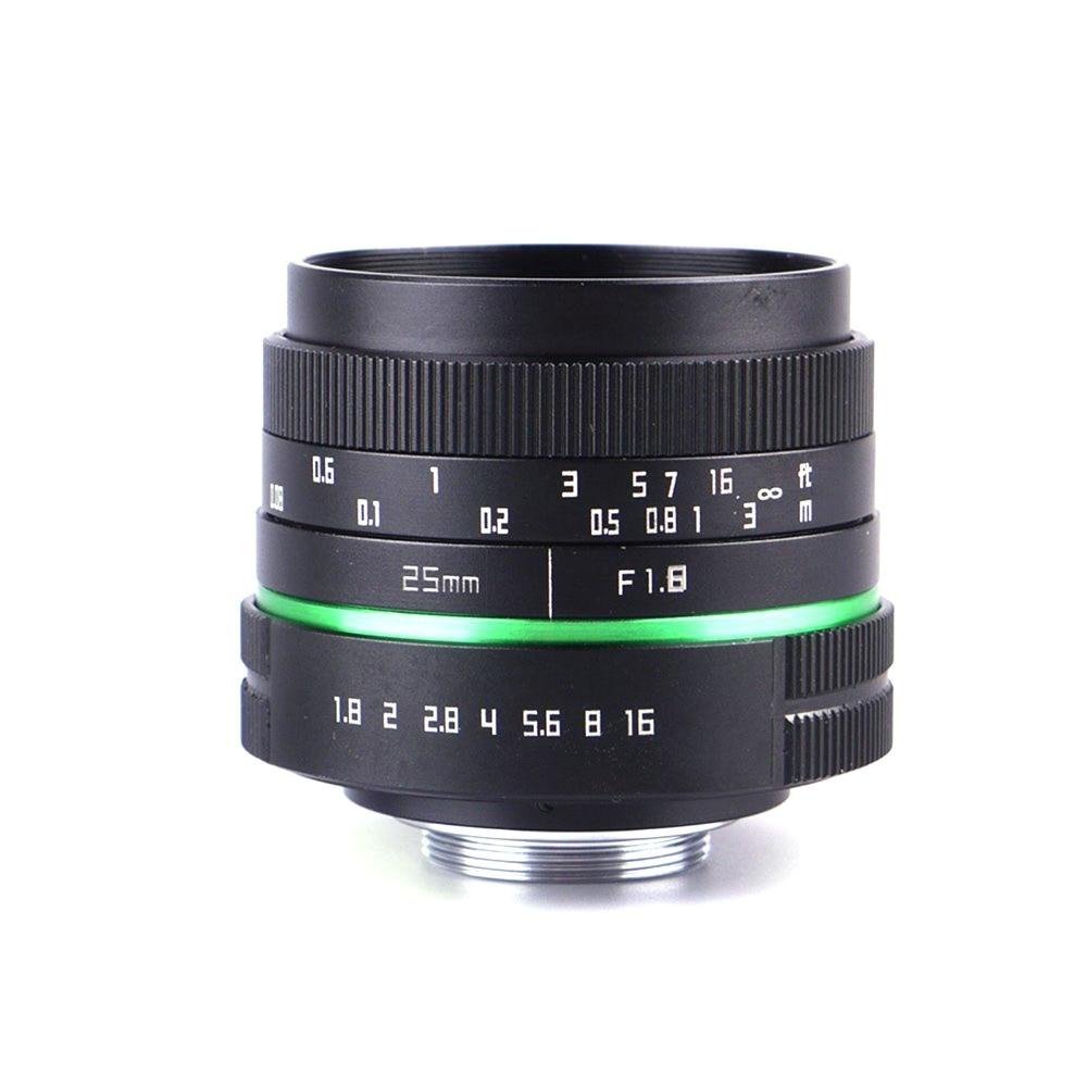 25mm F1.4 CCTV C-Mount Lens for APS-C sensor adapter for C-M4/3 Olympus E-P6/E-PL7/E-PL6/E-PL5/E-PM3 E-M5II E-M10 II E-M1 35mm f1 7 cctv lens macro rings c m4 3 adapter ring set for olympus panasonic silver