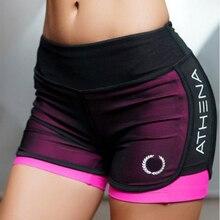 Лето 2017 г. Новый Для женщин короткие для тренировки модные Повседневное активные короткие Feminino поддельные два дышащий Шорты для женщин Для женщин