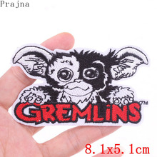 Prajna Cartoon Anime Gremlins Patch Iron On Patches Kids Embroidered For Clothing Cute Character Stickers Stripes Badges