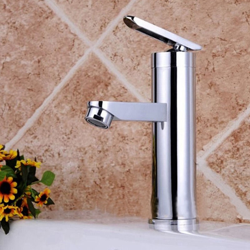 Xueqin Two Hole Single Handle Hole Hot Cold Water Mixer Taps Wash Basin Bathroom Kitchen Deck