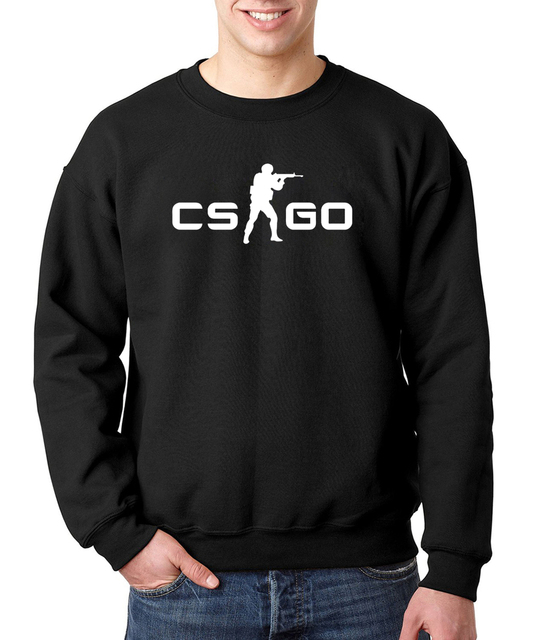 CS GO High Quality Cotton Sweatshirt Men O-Neck 2017 New Autumn Winter Men's Fashion Drake Hoody Brand in Fashion Hoodies Funny