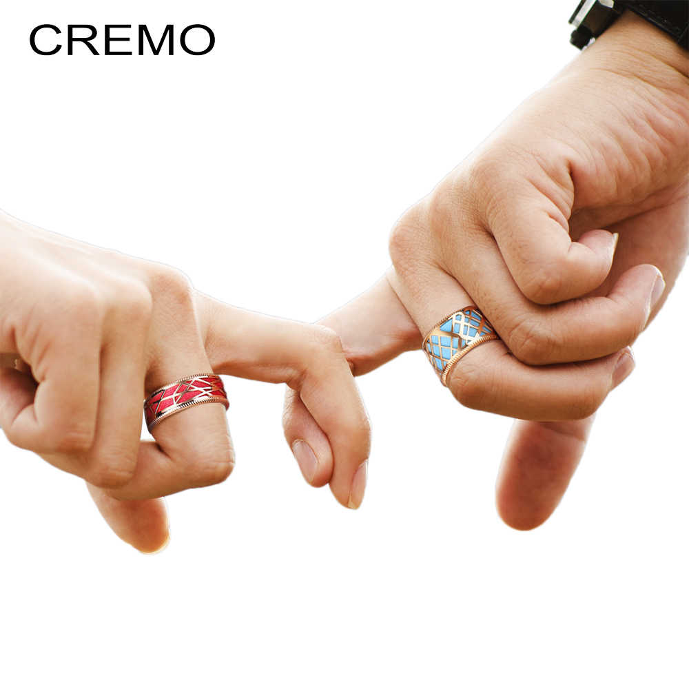 Cremo Valentine's Day Ring Female Argent Statement Reversible Leather Band Rings Vintage Dainty Knuckle Eternal Ring Jewelry
