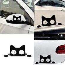 Наклейки и наклейки для автомобиля с изображением кота, забавные наклейки на мотоцикл, аксессуары для автомобильного декора, больше размеров и цветов