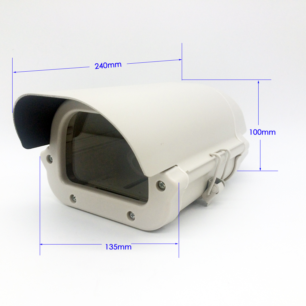 Security CCTV 6inch Camera Box Clear Glass WITHOUT lens cutout kamera Housing Outdoor Waterproof Enclosure Aluminium Alloy Cover security cctv camera housing outdoor camera box clear glass without lens cutout led light aluminum alloy cover size240 135 100mm