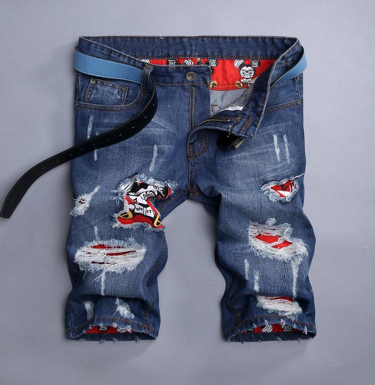 dedefea4e335 Denim Shorts Men 2016 Summer Casual Men Short Ripped Jeans For Men Fashion  Bermuda Masculina Beach Board Shorts Knee LengthUSD 21.00 piece