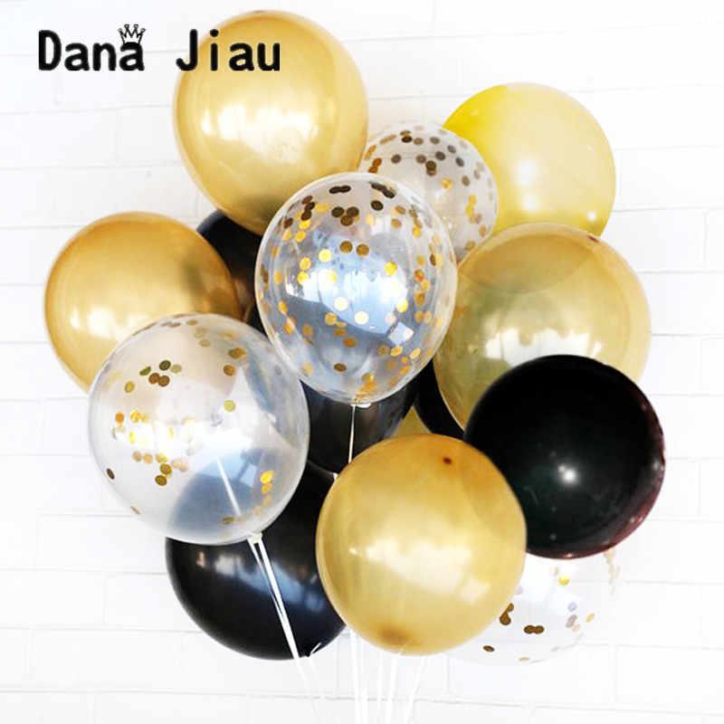 Globo de papel de corona de Oro Grande chico Feliz cumpleaños globos de celebración fiesta decoración aire ballon boda plata látex ballon