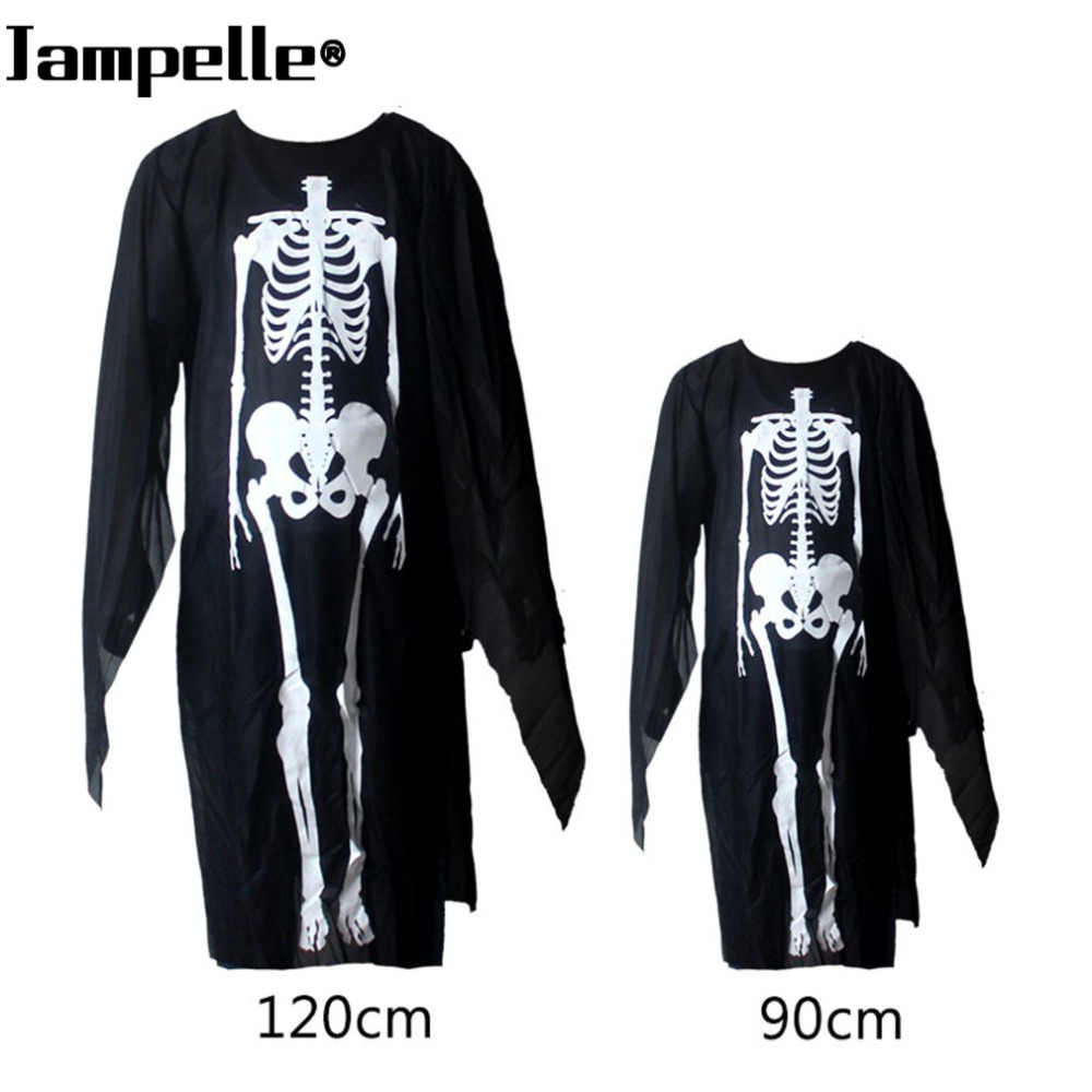 Traje de Halloween Esqueleto Crânio Fantasma Demônio Cosplay Trajes Adultos Crianças & Kids Vestes Vestido de Carnaval Masquerade Máscara Assustadora