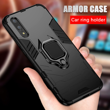 Luxury Shockproof armor case For huawei p20 lite p20 pro case silicone funda with ring stand hard cover for Car Magnetic Holder
