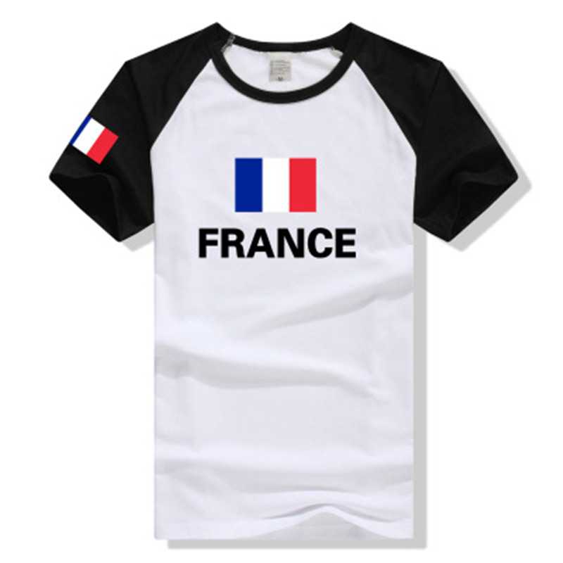 detailed pictures 2ea84 ccfd2 2018 Russia World Cup France national team jersey Short-Sleeved Cotton  Men's Printed T shirts #01 s cotton