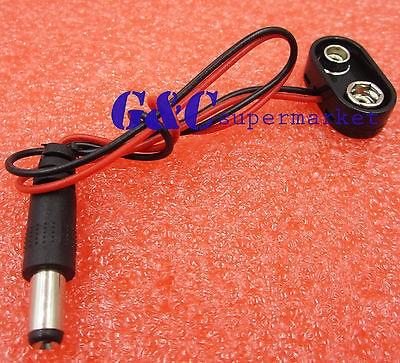 ᗑ】10 pcs Battery Power Cable Plug Clip 9V DC Barrel Jack Connector ...